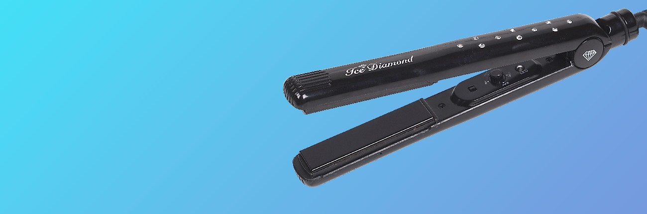 Ice Diamond black hair straighteners